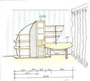 Дизайн мебели кухни, гостиной, детской
